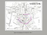 Карта оккупированного Смоленска. 1941 г.