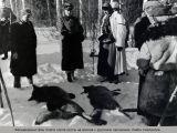 Фельдмаршал фон Клюге после охоты на волков