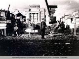 Немецкие указатели на площади Комендантской.