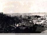 Панорама разрушенного Смоленска.
